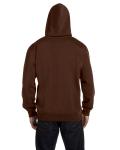 Earth 9 oz. Organic/Recycled Pullover Hood as seen from the back