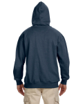 Water 7 oz. Organic/Recycled Heathered Fleece Pullover Hood as seen from the back