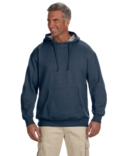 Water 7 oz. Organic/Recycled Heathered Fleece Pullover Hood as seen from the front