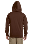 Earth Men's 9 oz. Organic/Recycled Full-Zip Hood as seen from the back