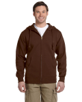 Earth Men's 9 oz. Organic/Recycled Full-Zip Hood as seen from the front