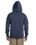 Pacific Men's 9 oz. Organic/Recycled Full-Zip Hood as seen from the back