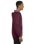 Berry Men's 7 oz. Organic/Recycled Heathered Full-Zip Hood as seen from the sleeveleft