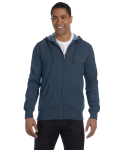 Water Men's 7 oz. Organic/Recycled Heathered Full-Zip Hood as seen from the front