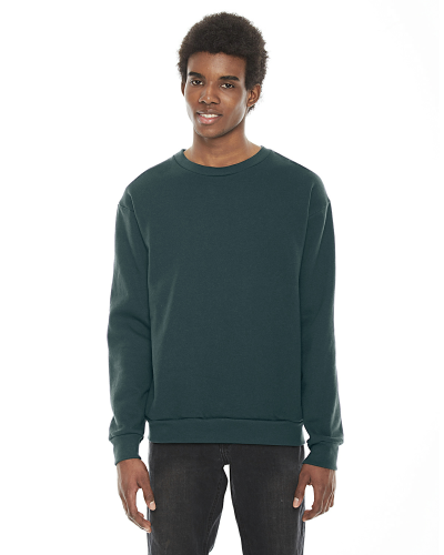 Forest MADE IN USA Unisex Flex Fleece Drop Shoulder Pullover Crewneck as seen from the front