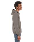 Pewter MADE IN USA Unisex Flex Fleece Zipper Hoodie as seen from the sleeveleft