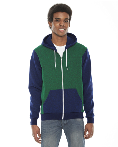 Pp Vn Grn Pp Lap MADE IN USA Unisex Flex Fleece Zipper Hoodie as seen from the front