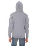 Slate MADE IN USA Unisex Flex Fleece Zipper Hoodie as seen from the back
