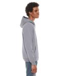 Slate MADE IN USA Unisex Flex Fleece Zipper Hoodie as seen from the sleeveleft