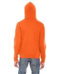 Tang MADE IN USA Unisex Flex Fleece Zipper Hoodie as seen from the back