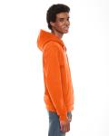 Tang MADE IN USA Unisex Flex Fleece Zipper Hoodie as seen from the sleeveleft