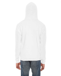 White MADE IN USA Unisex Flex Fleece Zipper Hoodie as seen from the back