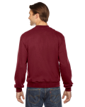 Cranberry MADE IN USA Unisex Flex Fleece Club Jacket as seen from the back
