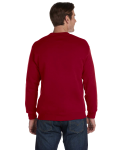Cardinal Red DryBlend 9.3 oz., 50/50 Fleece Crew as seen from the back
