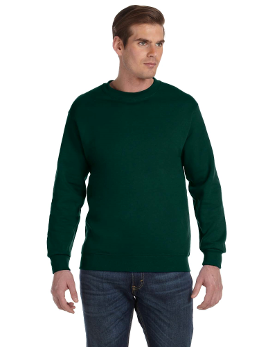 Forest Green DryBlend 9.3 oz., 50/50 Fleece Crew as seen from the front