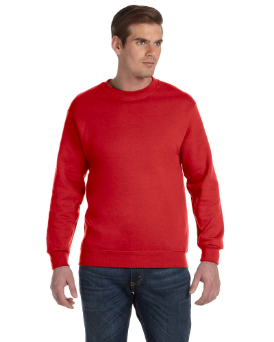 Red DryBlend 9.3 oz., 50/50 Fleece Crew as seen from the front