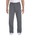 Charcoal DryBlend 9.3 oz., 50/50 Open-Bottom Sweatpants as seen from the front