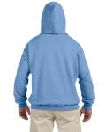 Carolina Blue 9.3 oz. DryBlend™ 50/50 Hood as seen from the back