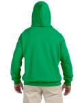 Irish Green 9.3 oz. DryBlend™ 50/50 Hood as seen from the back