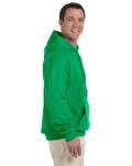 Irish Green 9.3 oz. DryBlend™ 50/50 Hood as seen from the sleeveleft