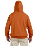 Texas Orange 9.3 oz. DryBlend™ 50/50 Hood as seen from the back