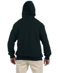 Black DryBlend™ 9.3 oz., 50/50 Full-Zip Hood as seen from the back