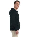 Black DryBlend™ 9.3 oz., 50/50 Full-Zip Hood as seen from the sleeveleft