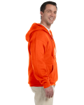 Safety Orange DryBlend™ 9.3 oz., 50/50 Full-Zip Hood as seen from the sleeveleft