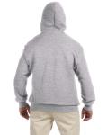 Sport Grey DryBlend™ 9.3 oz., 50/50 Full-Zip Hood as seen from the back