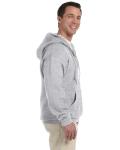 Sport Grey DryBlend™ 9.3 oz., 50/50 Full-Zip Hood as seen from the sleeveleft