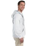 White DryBlend™ 9.3 oz., 50/50 Full-Zip Hood as seen from the sleeveleft