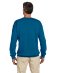 Antique Sapphire 7.75 oz. Heavy Blend™ 50/50 Fleece Crew as seen from the back