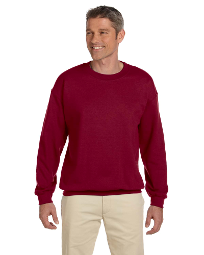 Antque Cherry Red 7.75 oz. Heavy Blend™ 50/50 Fleece Crew as seen from the front