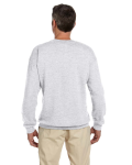 Ash 7.75 oz. Heavy Blend™ 50/50 Fleece Crew as seen from the back
