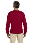 Cardinal Red 7.75 oz. Heavy Blend™ 50/50 Fleece Crew as seen from the back