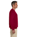 Cardinal Red 7.75 oz. Heavy Blend™ 50/50 Fleece Crew as seen from the sleeveleft