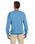 Carolina Blue 7.75 oz. Heavy Blend™ 50/50 Fleece Crew as seen from the back