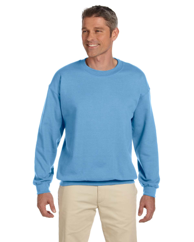 Carolina Blue 7.75 oz. Heavy Blend™ 50/50 Fleece Crew as seen from the front
