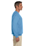 Carolina Blue 7.75 oz. Heavy Blend™ 50/50 Fleece Crew as seen from the sleeveleft