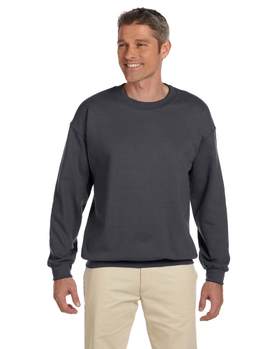 Charcoal 7.75 oz. Heavy Blend™ 50/50 Fleece Crew as seen from the front
