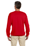 Cherry Red 7.75 oz. Heavy Blend™ 50/50 Fleece Crew as seen from the back