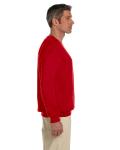 Cherry Red 7.75 oz. Heavy Blend™ 50/50 Fleece Crew as seen from the sleeveleft