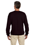 Dark Chocolate 7.75 oz. Heavy Blend™ 50/50 Fleece Crew as seen from the back