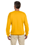 Gold 7.75 oz. Heavy Blend™ 50/50 Fleece Crew as seen from the back