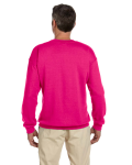 Heliconia 7.75 oz. Heavy Blend™ 50/50 Fleece Crew as seen from the back