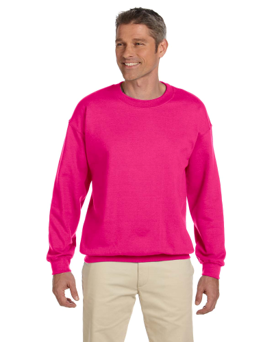 Heliconia 7.75 oz. Heavy Blend™ 50/50 Fleece Crew as seen from the front
