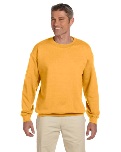 Honey 7.75 oz. Heavy Blend™ 50/50 Fleece Crew as seen from the front