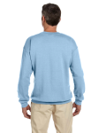 Light Blue 7.75 oz. Heavy Blend™ 50/50 Fleece Crew as seen from the back