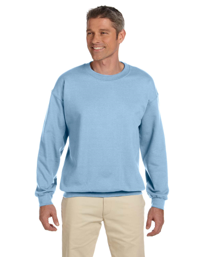 Light Blue 7.75 oz. Heavy Blend™ 50/50 Fleece Crew as seen from the front