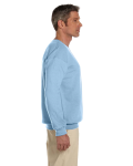 Light Blue 7.75 oz. Heavy Blend™ 50/50 Fleece Crew as seen from the sleeveleft